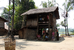 Traditional village in the Chin State, Myanmar