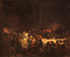 Assassination of the Bishop of Liege, Draft, 1827, by Delacroix