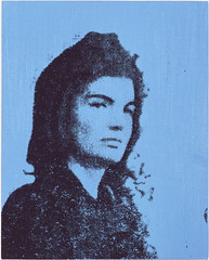 Jackie, Blue, 1964, by Andy Warhol (Courtesy Boston Museum of Fine Art)
