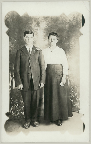 couple in studio RPPC
