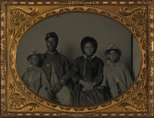 Portrait of Black Union Soldier & Family | 1865