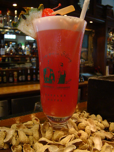 Singapore Sling at Raffles Long Bar by VasenkaPhotography