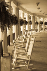 "The front ""porch"" at West Baden Springs"