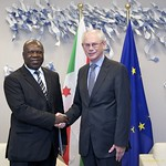 Mr Balthazar Bigirimana, Head of the Mission of the Republic of Burundi to the European Union, presents his credentials to the President of the European Council, 27 September 2011