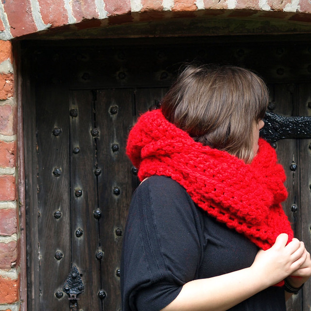 Andraya's Crochet: Seamless Hooded Scarf Pattern