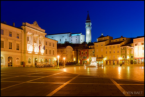 Piran - Tartini Square | Tartinijev Trg at First Light