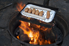 Fire and sausages