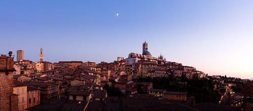 Siena twilight panorama