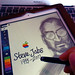 Tribute to Steve Jobs : Drawing Steve on iPad 2