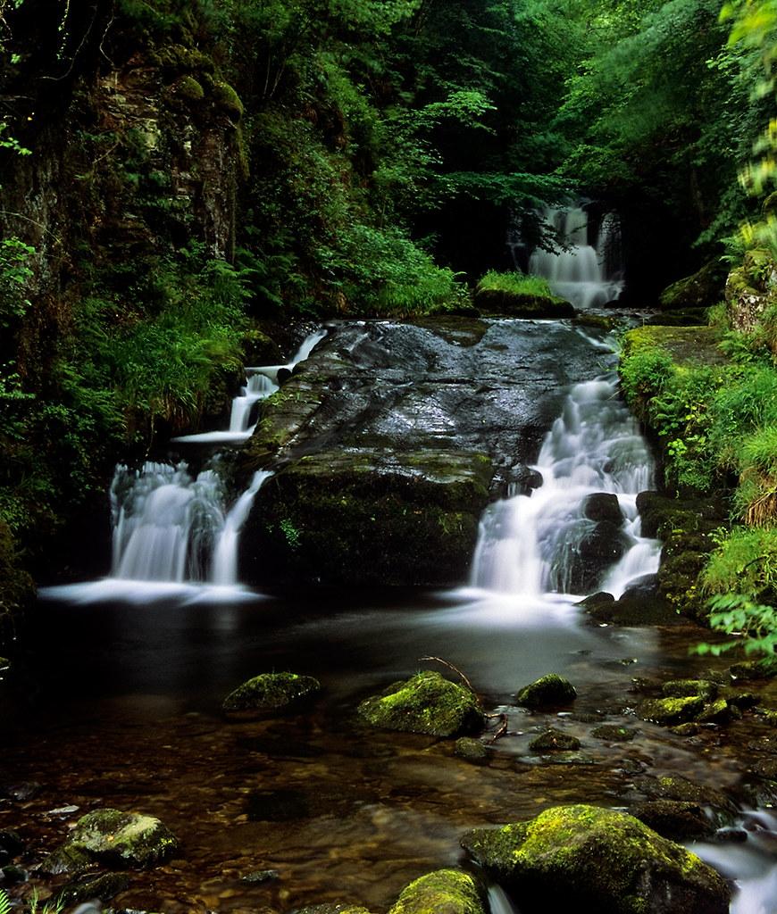 Grid Ref Finder >> Watersmeet Waterfalls, Lynmouth, Devon, UK | National Trus… | Flickr