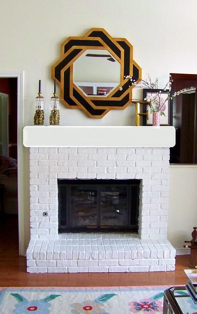 Hi sugarplum living room painting the brick fireplace Hi sugarplum