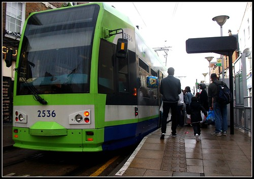Tramlink unit 2536 on service 2 Church street Croydon 17/09/11.
