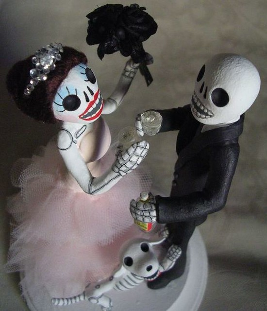 day of the dead wedding cake topper flickr photo sharing