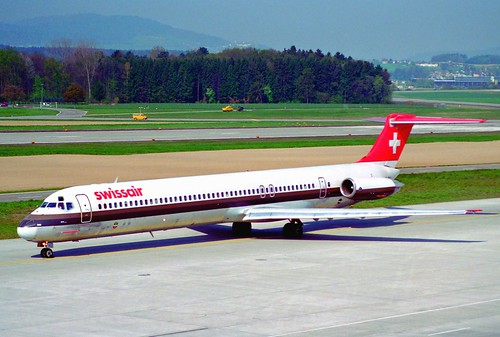 Swissair MD-81; HB-INU@ZRH;11.04.1997