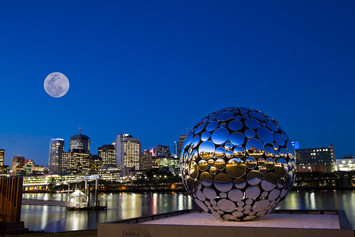 """""""All the world's a stage, and all the men and women merely players"""" Brisbane Festival, South Bank Mirror Ball, Queensland Australia"""