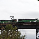 Lake Superior and Ishpeming Railroad Locomotives at the Presque Isle Ore Dock, Marquette, MI