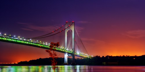 nyc newyorkcity longexposure bridge red mist ny newyork reflection tree fog brooklyn night sunrise geotagged dawn lights nikon exposure view nocturnal suspension gothamist statenisland forthamilton hdr narrows bayridge d300 verrazano verrazanonarrows beltparkway mudpig harborentrance stevekelley stevenkelley