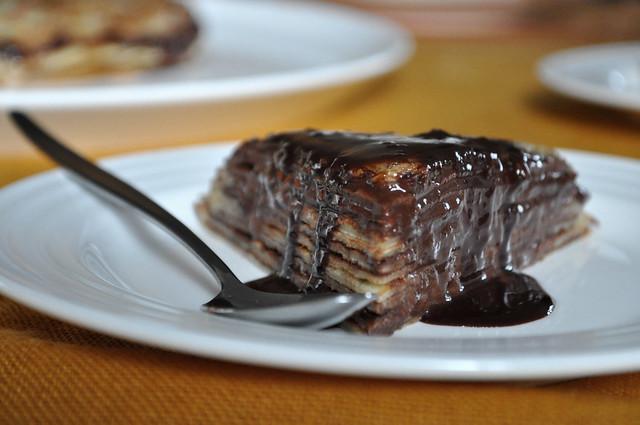 bruleed mocha crêpe cake