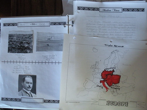 Timeline and History Notebook Pages