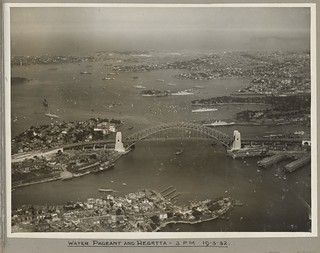 Water pageant and regatta at Sydney Harbour Bridge, 19 March 1932