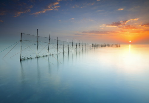 Kuwait - Fish trap Sunrise