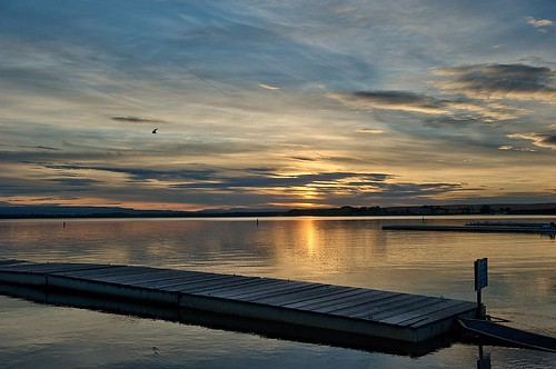 sunset lake dock nikon idaho f28 nampa 2470 lakelowell d700