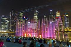 Laser show - Singapore river