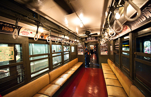 Vintage 1920s NYC Subway Train