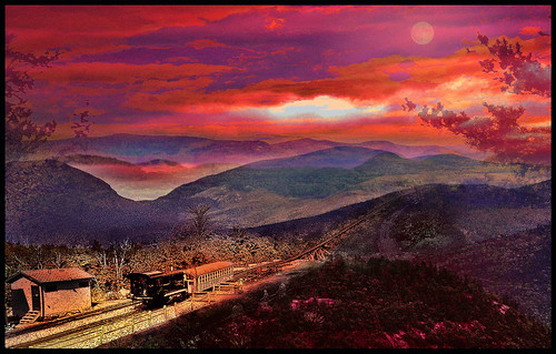 Mount Washington Cog Railway to the Sunset