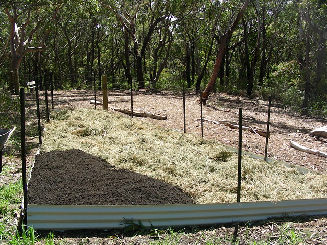 Organic soil the next layer into the vegetable patch for Garden soil layers