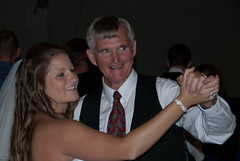 Grandpa dances with the bride