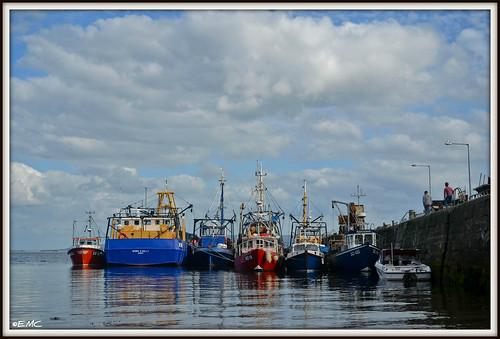 ireland sea seascape boats pier nikon jetty ships shoreline places coastal fishingboats donegal irlande ulster moville inishowen foyle loughfoyle bythesea coastalview d3100 nikond3100 carrickarorypier