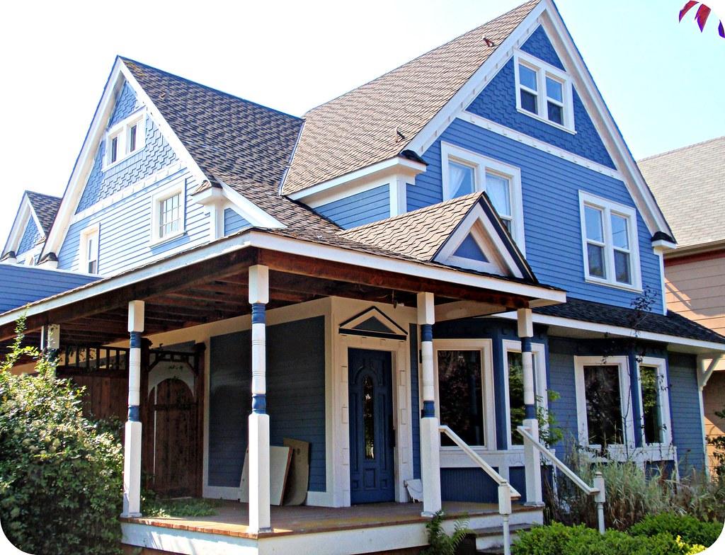 Charming Blue Victorian Farmhouse