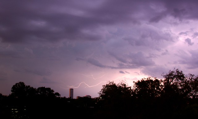 Purple Lightning in Houston