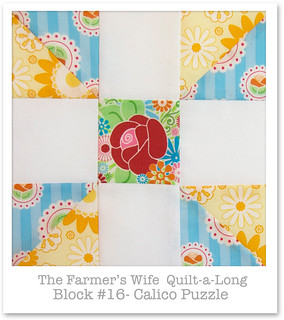 Farmer's Wife Quilt-a-Long - Block 16