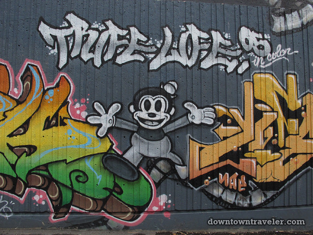 Cartoon mural in Gay City Montreal 2
