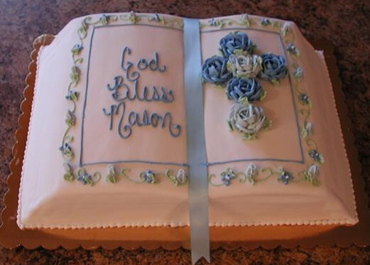 Bible Shaped Cake http://www.flickr.com/photos/cr8cakes/6198792972/