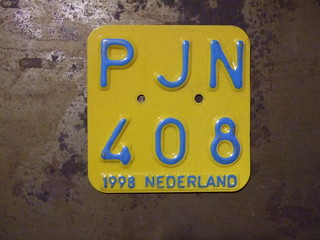 NETHERLANDS 1998 ---MOPED PLATE #PJN408