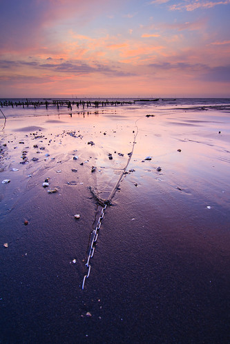 longexposure sunset beach clouds coast shell taiwan 夕陽 台灣 彰化 changhua 海邊 貝殼 沙灘 海水 肉粽角 彰濱工業區