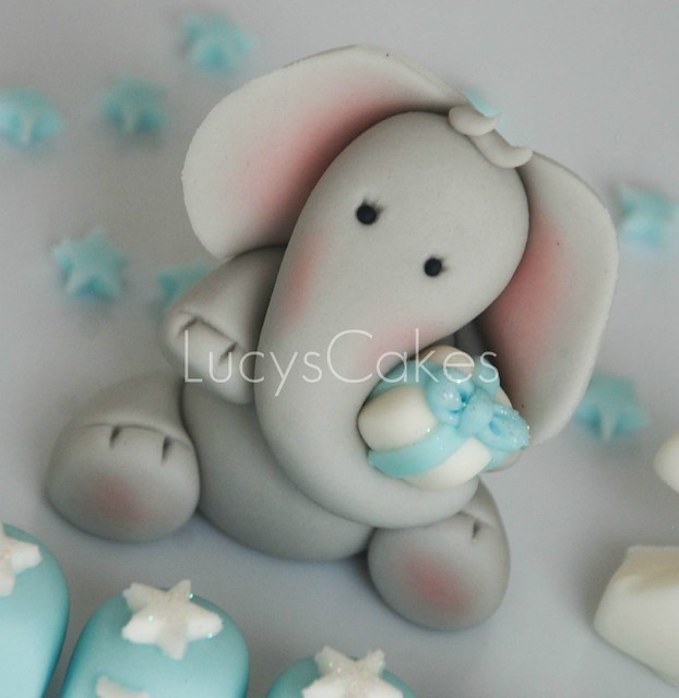 Elephant birthday cake topper edible - a photo on Flickriver