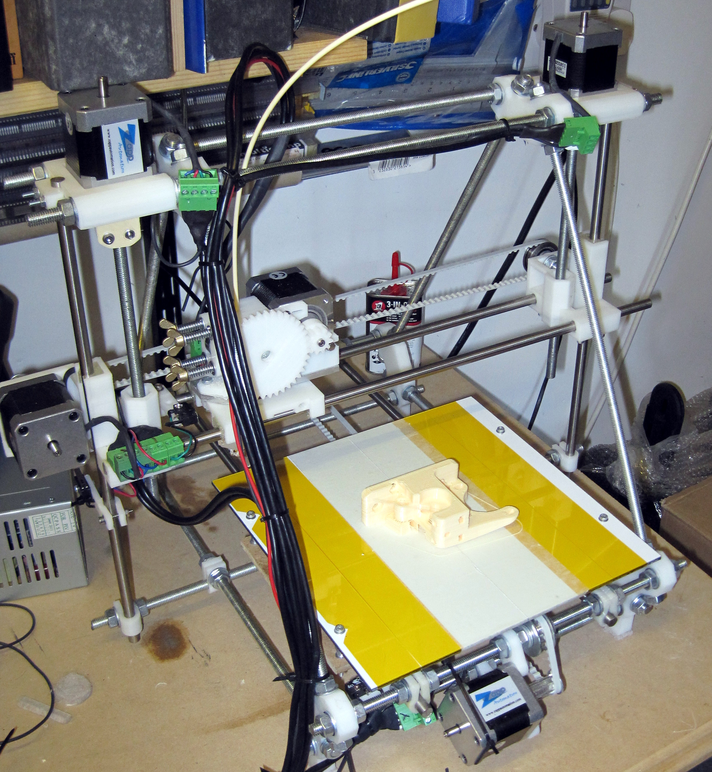 My Prusa Reprap printer, not recommended for new builds