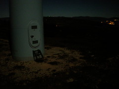 Wind turbine Nº9, entrance door at night