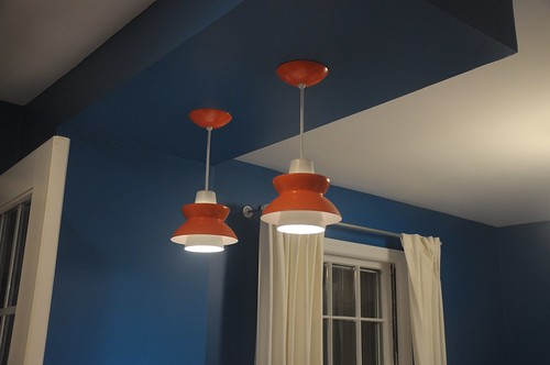 orange pendant lamps
