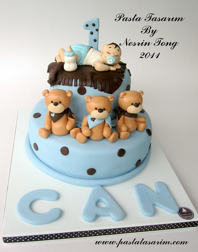 Birthday Cake Pictures For Baby Boy : sleeping baby boy - can 1st.birthday cake - a photo on ...