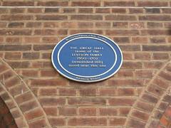 Photo of Great Hall, Wolverhampton blue plaque
