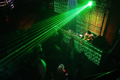 rave, music venue, music, light, laser, green, disco, nightclub, darkness, performance,