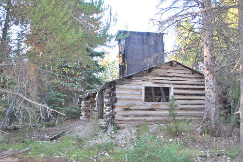 granite mining cabin  in wyoming