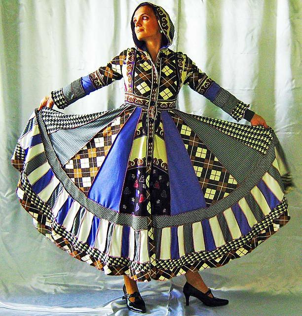 Gypsy Patchwork Sweater Wool Dress Boho Jacket Hippie Chic