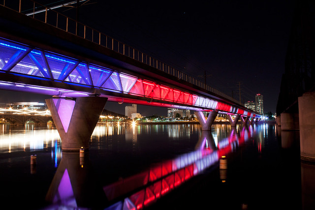 Light Rail Bridge Over Tempe Town Lake (1)