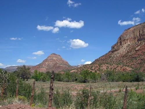 mountains landscape springs jemez